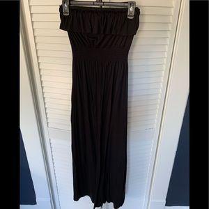 FOREVER 21 Black Strapless Maxi Dress - S